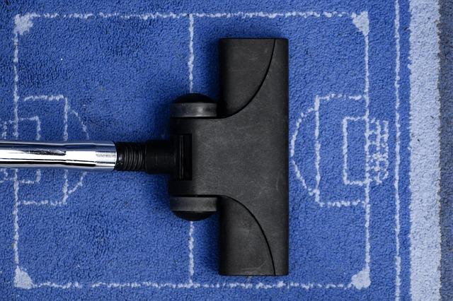 čištění modrého koberce