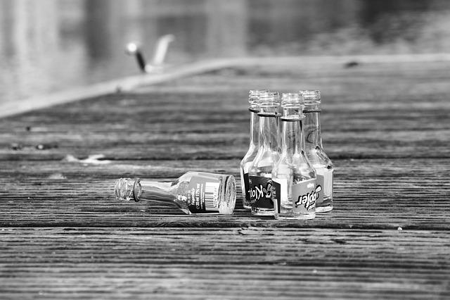 vypité skleničky